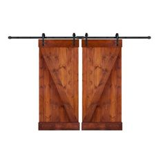 wellhome DIY Slid Knotty Pine Barn Door and Hardware combo is designed to transform your doorway into a side-sliding entry. This is a popular new way to bring innovation into the home and close off the Architecture Bathroom, Painting On Wood, Wood Doors, Diy Interior, Barn, Doors And Hardware, Stained Doors, Interior Barn Doors Diy, Metal Buildings