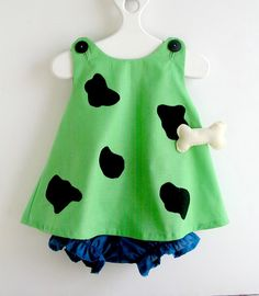 Complete Green Pebbles Flintstone Toddler Costume 3 by peapodray, $46.00