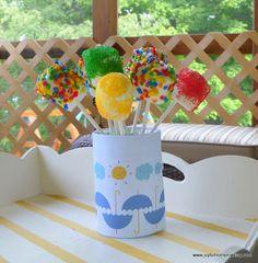 Joyful Homemaking: Marshmallow Pops - fun stuff for kids to do