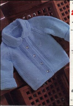 Vintage PDF Baby Knitting Pattern - Emu 8244 - cardigan Instant Download on Etsy, £1.25