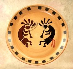 Kokopeli Serving Platter, Salad Plate /Dessert Plate 1pc by ACK. $8.25. Kokopeli traditional collection.Add this great item to your collection. Exquisitely hand crafted in durable Ceramic 100% excellent quality. Unique shapes bring each piece to life.100% finish gloss. Each item has been dedicated hand-painted to make each piece look real. Colors are amazing. You will love having this collection in your home * 100% HAND-PAINTED