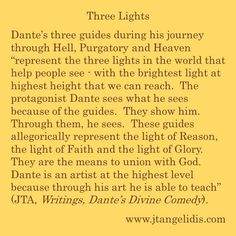 #Dante, #DivineComedy, #journey, #Hell, #Purgatory, #Heaven, #allegory, #guides, #represent, #lights, #world, #Reason, #Faith, #Glory, #UnionWithGod, #God, #Jesus, #Christ, #saints, #Christian​, #art, #artist, #poetry, #poem, #teach