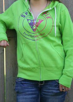 Green Zip Sweatshirt - $42