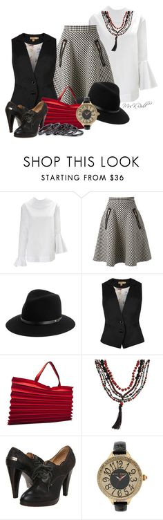 """""""Fedora Inspired"""" by mrskrodd ❤ liked on Polyvore featuring EUDON CHOI, Coast + Weber + Ahaus, rag & bone, Ted Baker, Issey Miyake, Frye, Betsey Johnson and Pieces"""