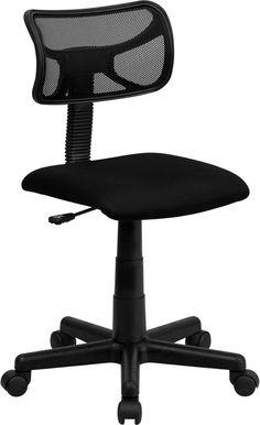 Low Back Black Mesh Swivel Task Chair -Low Back Black Mesh Swivel Task Chair