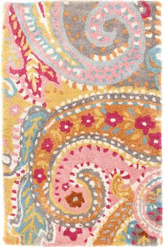 Lyric Paisley Wool Tufted Rug