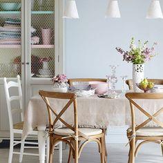 Esszimmer Wohnideen Möbel Dekoration Decoration Living Idea Interiors home dining room - Vintage Style Pastell Esszimmer