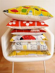 Jane Foster blog A pile of 50s cushions I made once with some of my favourite fabrics.