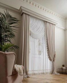 Awesome Window Treatment Ideas and Curtain Designs Photos - View our collection of designer window treatments as well as personalized window treatments for your house. From vineyard shutters to simple DIY drapes, locate ideas for upgrading your design. Home Curtains, Curtains Living, Modern Curtains, Curtain Styles, Curtain Designs, Living Room Decor, Bedroom Decor, Beautiful Curtains, Custom Drapes