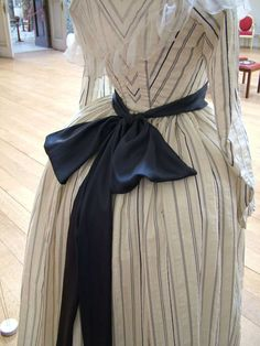 """Back view of costume worn by Kiera Knightley in """"The Duchess"""""""