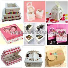 Casa de diseño decorativo de papel de la torta de cartón cajas