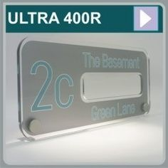 Stylish Acrylic House Signs The Ultra Modern 400R  http://www.de-signage.com/ultra-modern-house-sign-collection.php