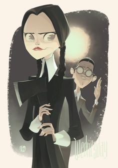Wednesday Adams by Otto Schmidt