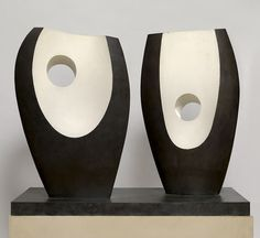 Via thecuriae Two Forms with White (Greek) by Barbara Hepworth, English artist and modernist sculptor who was a leading St Ives figure. Sculptures Céramiques, Art Sculpture, Stone Sculpture, Barbara Hepworth, Organic Sculpture, Sculpture Projects, Art Society, Action Painting, Contemporary Sculpture