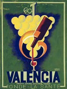 Valencia Wine Vintage Poster Fine Art Giclee Print