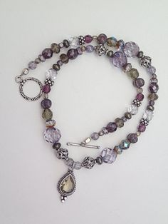 One of a Kind Beaded Necklace 18 length by BBeadCreations on Etsy, $65.00