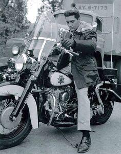 Elvis trying a bike