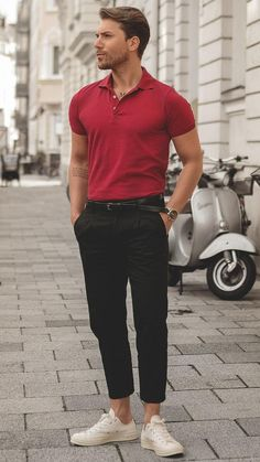 5 polo shirt outfits for men in 2019 mens outfits Polo Shirt Outfits, Polo Outfit, Outfit Jeans, Polo T Shirts, Polo Shirt Style, Mens Fashion Suits, Men's Fashion, Fashion Moda, Stylish Men