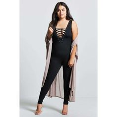 c3fd972dc60 Forever21 Plus Size Strappy Jumpsuit ( 20) ❤ liked on Polyvore featuring  plus size women s