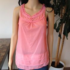 Peach color Tank Top size S Peach color top size S pre loved Naked Zebra Tops Tank Tops