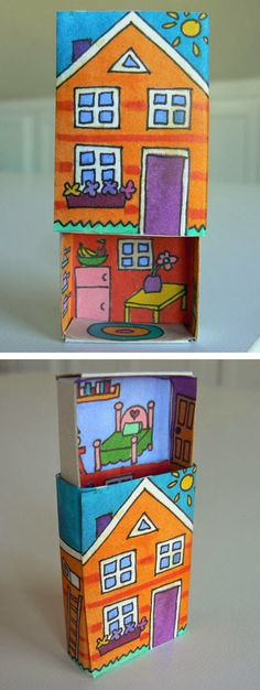 Make a Cute DIY Toy usi… Projects For Kids, Diy For Kids, Diy And Crafts, Craft Projects, Crafts For Kids, Arts And Crafts, Paper Crafts, Matchbox Crafts, Matchbox Art
