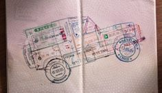 Make a piece of art in your passport!