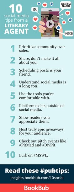 10 Tips for Authors on Using Social Media from a Literary Agent Fiction Writing, Writing Advice, Writing A Book, Romance Authors, Book Authors, Social Media Content, Social Media Tips, Social Marketing, Platform