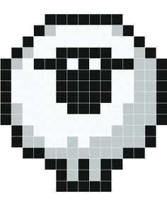 Stickaz - Sheep pixel art Plus Crochet Pixel, Crochet Cross, Perler Beads, Fuse Beads, Pixel Art Trop Beau, Beaded Cross Stitch, Cross Stitch Embroidery, Modele Pixel Art, Pixel Art Templates