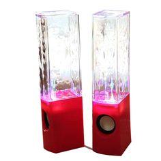 Dancing Water Speaker Music Fountain Light Speakers USB LED Dancing Water Show Red