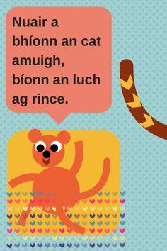 . Irish Proverbs, Irish Language, Ireland Homes, Paddys Day, Cat Stickers, Real Friends, Primary School, Literacy, Homeschool