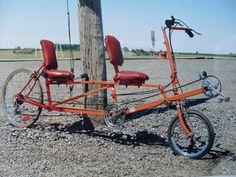 1998 Recumbent Tandem bike - Pedal Room
