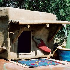 Adobe dog house - for the dog who has everything