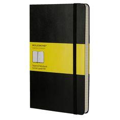 Moleskine Classic Hard Cover Squared Notebook Large Black