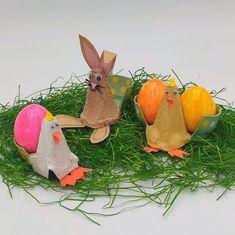 """Ach du dickes Ei!"" - niedliche Eierbecher aus Eierkarton Diy Recycling, Egg Box Craft, Paint Colours, Egg Cups, Cardboard Paper"