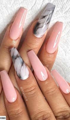Marble Shaped Pink Nail Art To Create 2019 - . - Marble Shaped Pink Nail Art To Create 2019 – art - Marble Acrylic Nails, Summer Acrylic Nails, Best Acrylic Nails, Summer Nails, Halloween Acrylic Nails, Spring Nails, Marble Nail Designs, Ombre Nail Designs, Acrylic Nail Designs