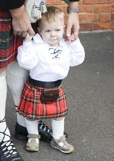 Baby Scottish Kilt Royal Stewart Tartan Plaid 4 12 Month Christening Christmas | eBay