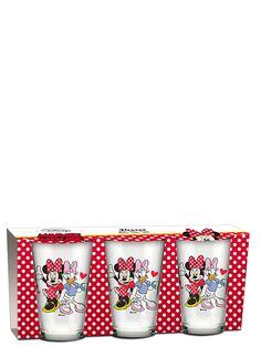 Herttaiset Minni-juomalasit innostavat järjestämään mehukestit! Pakkauksessa on kolme samanlaista juomalasia, jotka kestävät konepesun. Korkeus 11 cm.