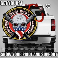 You requested our official MAIN Logo as a DECAL for your truck or any other Vehicle and here it is!! We need to sell as many as we can and need your help getting rid of them, so please get one or two for you and your friends as well! We have 236K plus members in here we shouldn't have any problem meeting our goal.  They will be shipped the following day!! We have 2.5x2.5 or a 5x to choose from. 👉 http://shop.unclesamsmisguidedchildren.com/  It makes everything better!!  Use USMCnation10 for…