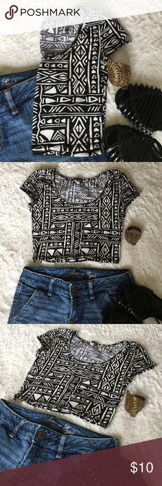 """Wet Seal Crop Top Black and white crop top from Wet Seal. Only worn once or twice. In great condition with no rips or tears. Size small. Length from top of shoulder to bottom is 13"""". 95% cotton, 5% spandex.    Bundle & Save: 20% off 2+ items!   No trades / selling off Posh.  ✔️ Reasonable offers always welcome. Wet Seal Tops Crop Tops"""