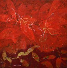 Effeuillage rouge:rouge 2011 40×40