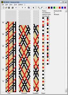 Bead crochet rope pattern - plaid - 8 around, 3 colors Crochet Beaded Bracelets, Beaded Bracelet Patterns, Jewelry Patterns, Crochet Necklace, Rope Necklace, Bead Crochet Patterns, Bead Crochet Rope, Beading Patterns, Beaded Crochet