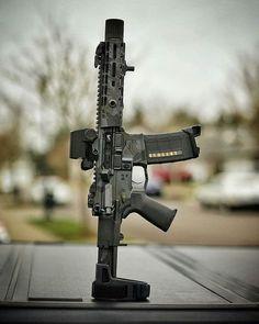 Always Good To Have A Balanced Weapon Airsoft Guns, Weapons Guns, Guns And Ammo, Ar Pistol Build, Ar15 Pistol, Ar Build, Tactical Rifles, Firearms, Gun Vault