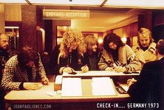 Led Zep, Germany 1973 check-in at the hotel