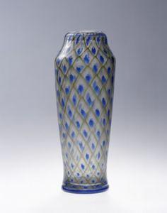 Ecole de Nancy - verrerie Daum, Vase à décor de résilles, vers 1919-1923