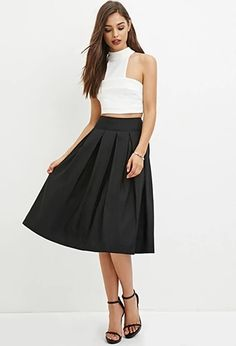 Pleated A-Line Skirt | Forever 21 | #thelatest