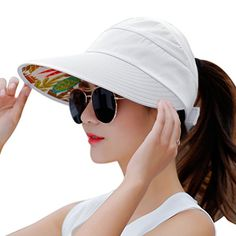 e50ba0bbd3b HindaWi Sun Hats for Women Wide Brim Sun Hat UV Protection