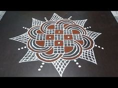 Easy Rangoli Designs Diwali, Simple Rangoli Designs Images, Small Rangoli Design, Rangoli Ideas, Rangoli Designs With Dots, Rangoli With Dots, Beautiful Rangoli Designs, Rangoli Borders, Rangoli Border Designs