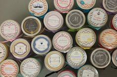 36 - Mason Jar Labels // 2.5 Inch Round Labels - Fit 4oz or 8oz Regular Mouth Jars // Design of your choice