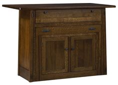 Amish Collbran Frontier Kitchen Island with Extending Table