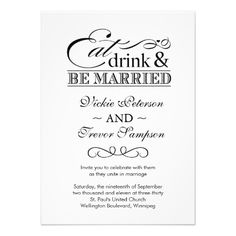 Discount DealsEat Drink and Be Married Wedding Invitationsonline after you search a lot for where to buy